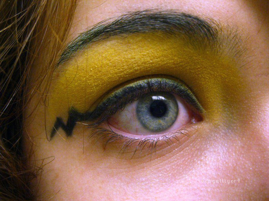 Pikachu eye makeup