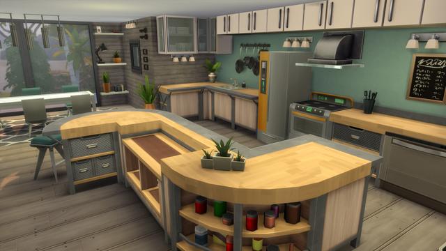 A Fresh Modern Kitchen Using Only Base Game Thesims Sims House Sims 4 House Design Sims House Design