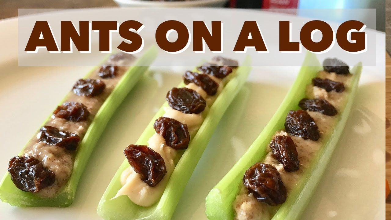 Ants On A Log Snack Healthy Snacks For Kids And Adults Ants On A Log In This Video I Share A Simple And Healthy Work Snacks Healthy Snacks Healty Snacks