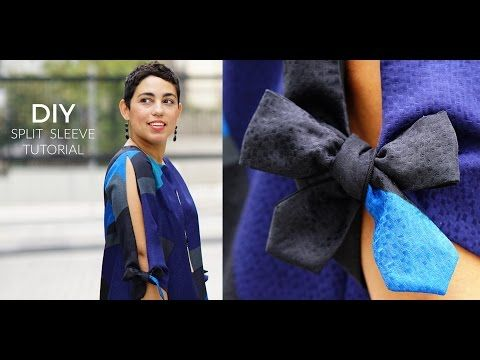 DIY SPLIT SLEEVE TUTORIAL - YouTube | Sewing | Pinterest | Tutorials ...
