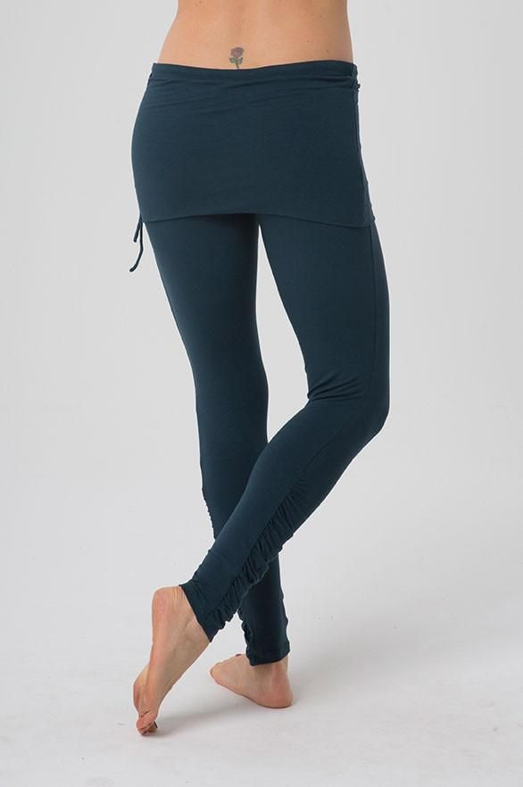 26f7442dd8 This perfect everyday leggings features a built in skirt and drawstring to  ensure a perfect fit. Ruching details at the calf add charm and  sophistication.