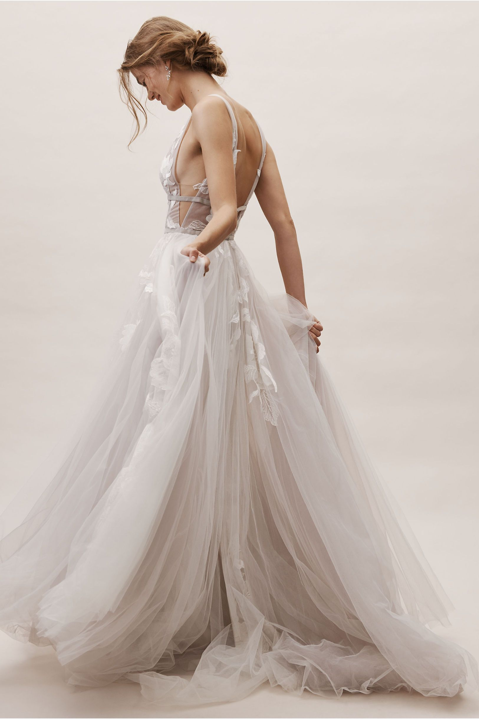 Bhldn S Willowby By Watters Hearst Gown In Silver Wedding
