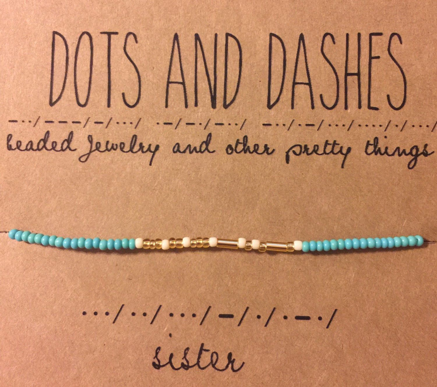 Pin By Hartt Lang On Dots Amp Dashes Sister Bracelet