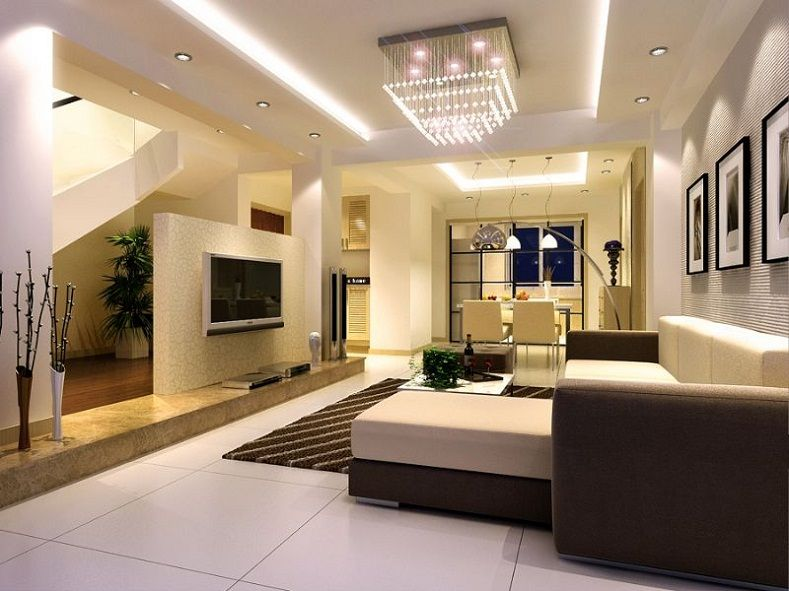 Beautiful ceiling living room designs luxury pop fall for New design interior living room