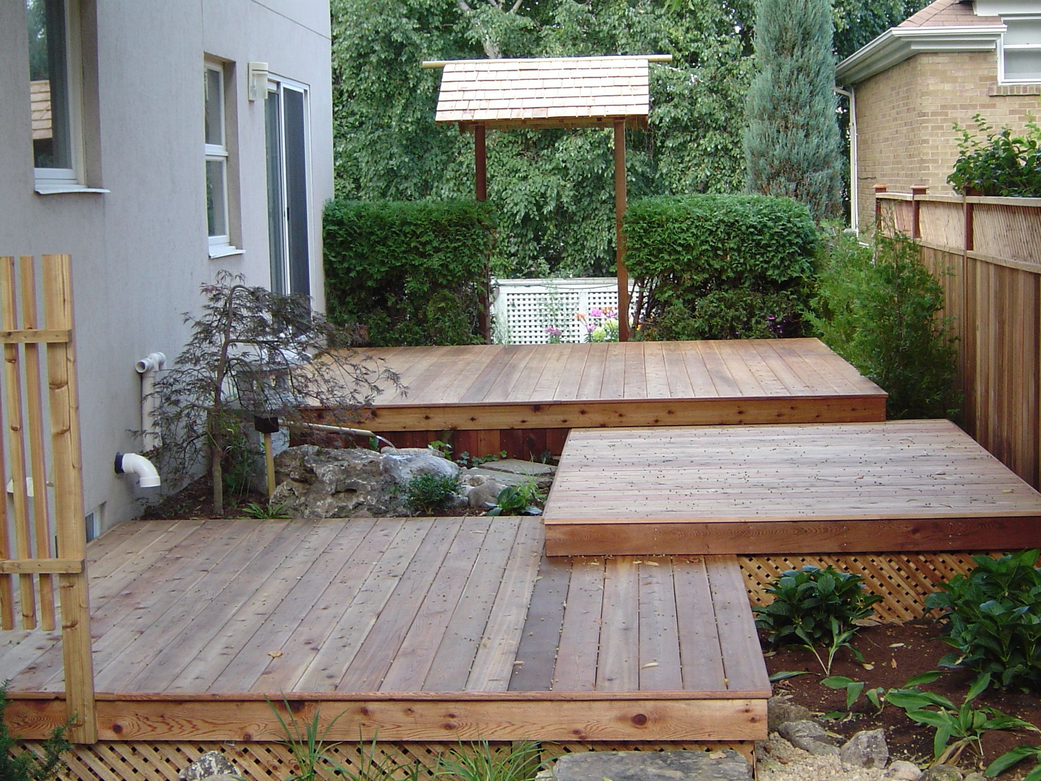 tiered deck | Backyard, Tiered deck, Building a deck on Tiered Yard Ideas  id=16148