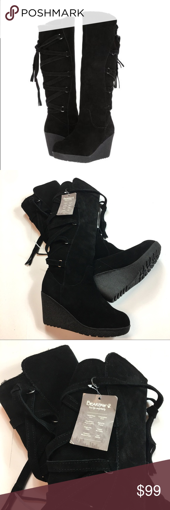 93c98c8fecd I ACCEPT OFFERS bear paw Brittany knee high boots Bearpaw Britney Knee-High  Wedge Boot