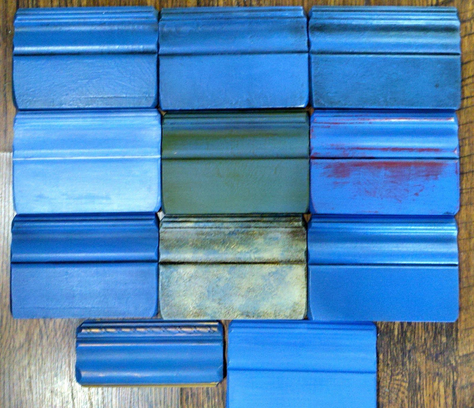 Blue paint samples - The Studio At 3 Oaks A Creative Journey Annie Sloan Greek Blue Samples