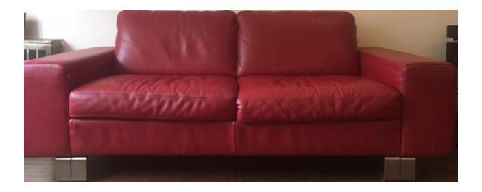 Natuzzi Italian Red Leather Loveseat On Chairish