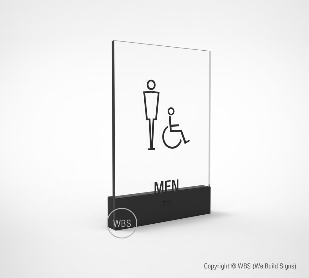 Mens Bathroom Blue Sign - Men Public Restroom Signs - Plastic, 12x18 -  Walmart.com
