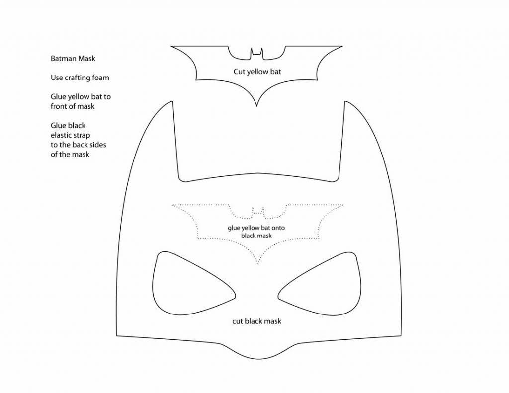 Make Your Own Batman Mask Batman Mask Batman Mask Template