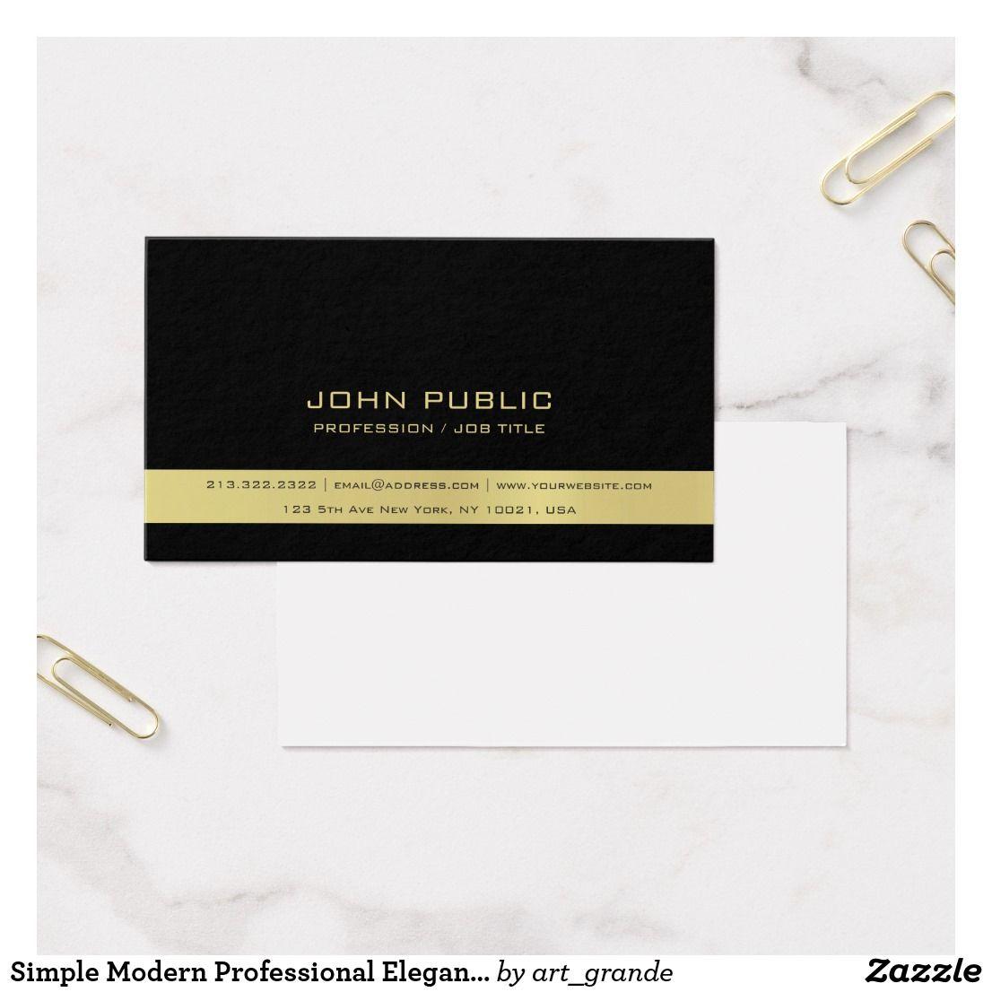 Simple Modern Professional Elegant Black Classy Business Card ...
