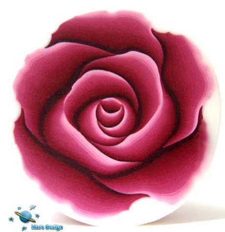Polymer clay burgundy rose cane | par Marcia - Mars design