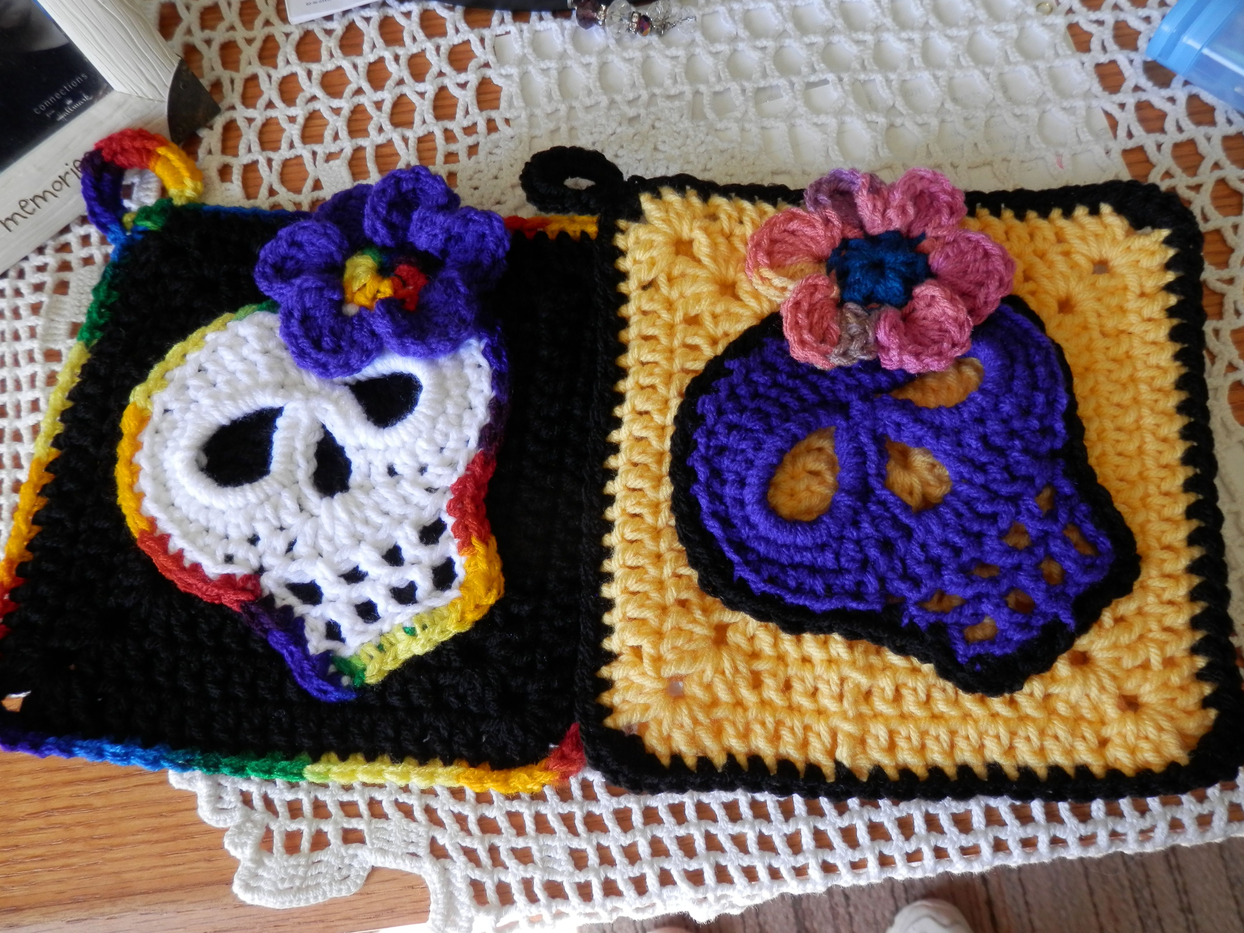 Day Of The Dead Pot Holders So Far Everyone Has Put Them -2644