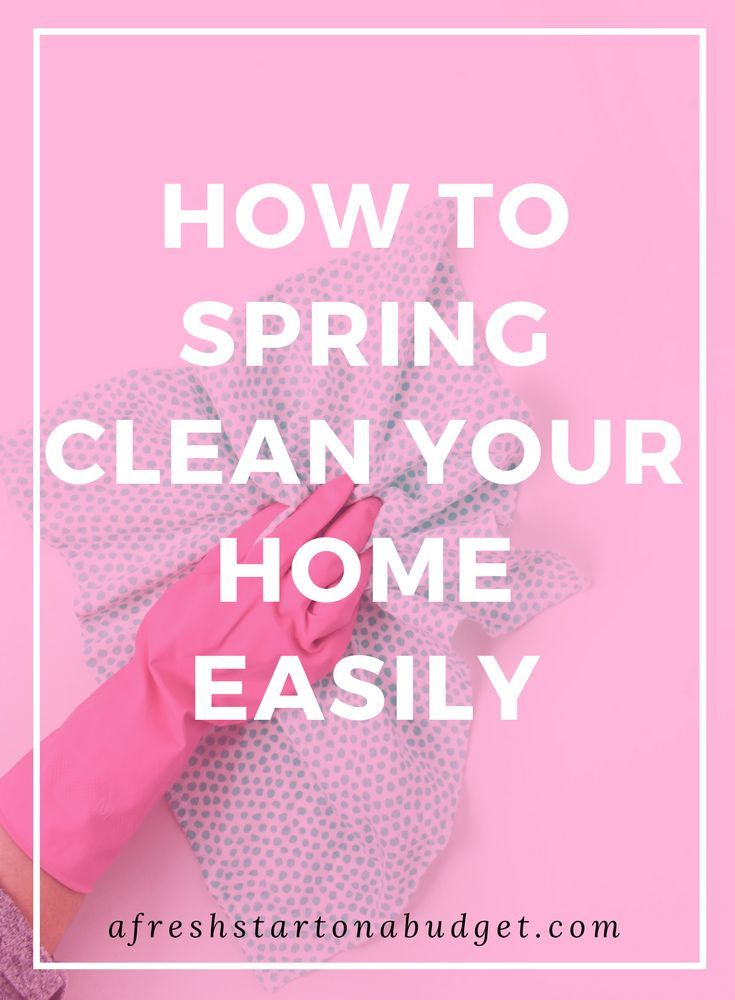 6 Days Of Useful Spring Cleaning Tips Series: Day 1   A Fresh Start On A  Budget. HOW TO SPRING CLEAN YOUR HOME EASILY