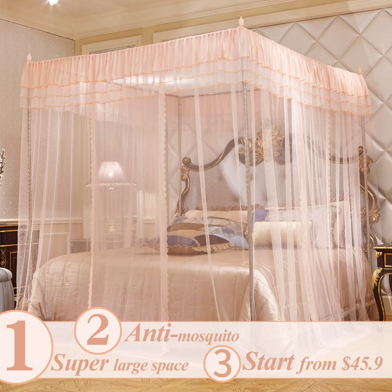 Newest mosquito net/bug nets/bed canopy curtains free shipping king/queen size & Newest mosquito net/bug nets/bed canopy curtains free shipping ...