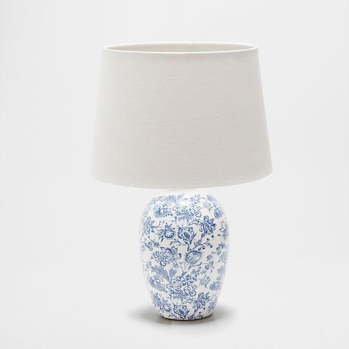 lampe aus keramik mit print beleuchtung dekoration zara home deutschland gifts. Black Bedroom Furniture Sets. Home Design Ideas