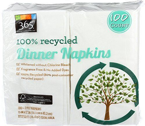 365 Everyday Value 100 Recycled Dinner Napkins 100 Cou Https