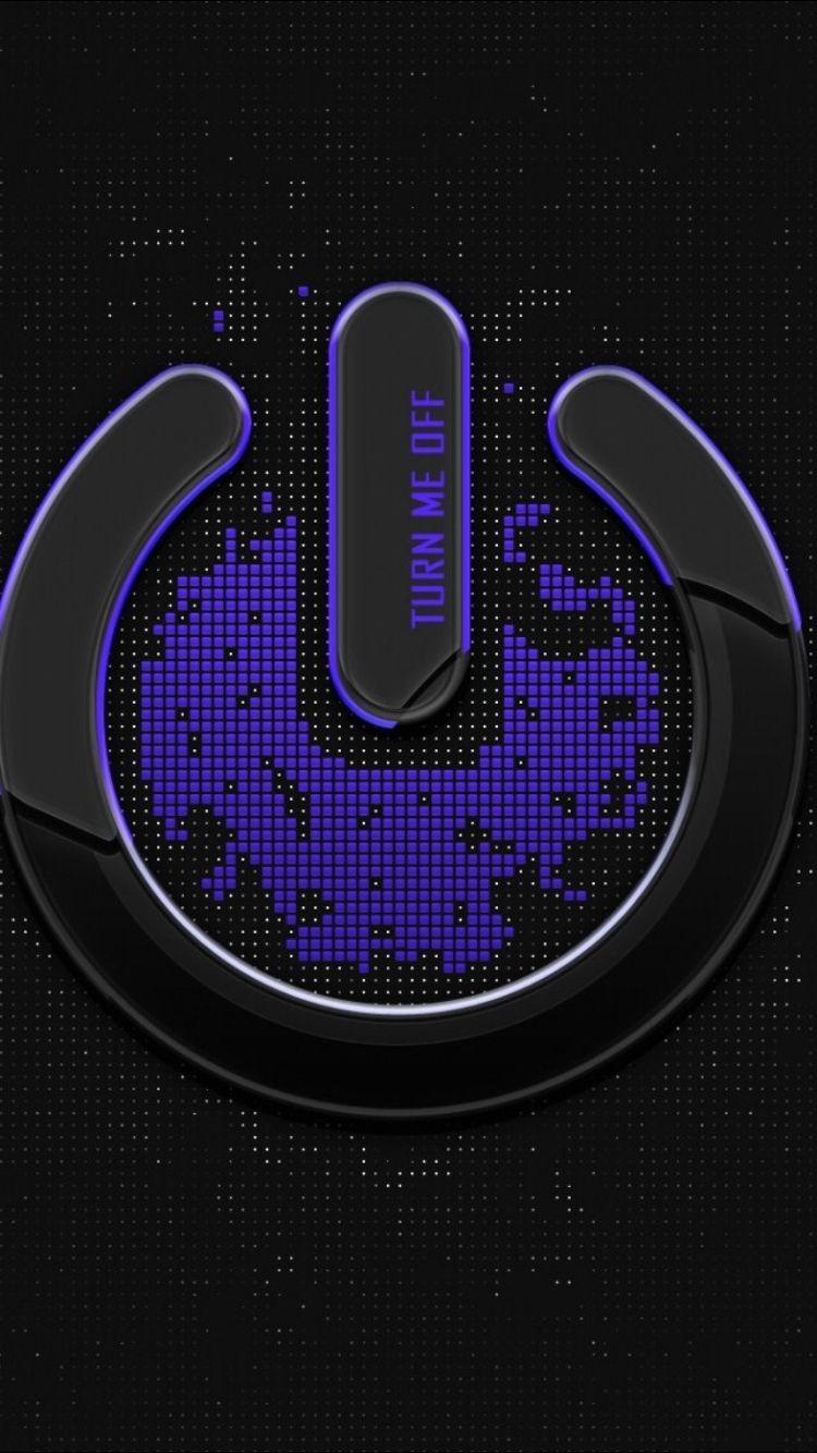 Power Button Wallpaper Geek Stuff Pinterest Iphone Wallpaper