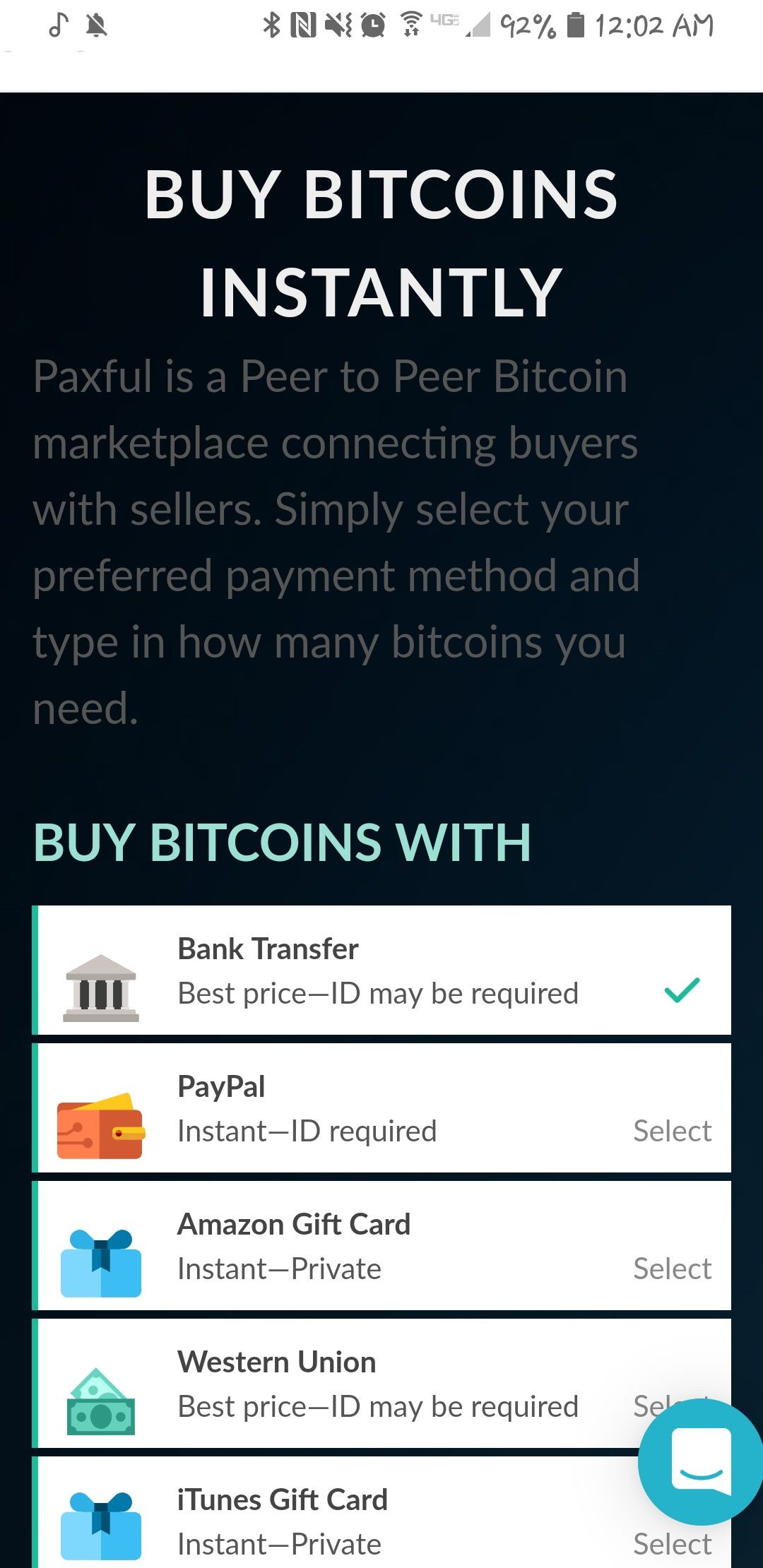 Paxful Bitcoin Cryptocurrency Trading Peer