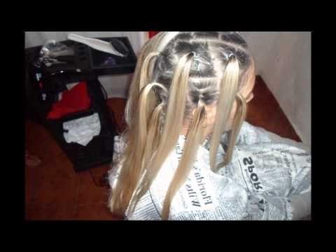 Tecnica para aclarar el cabello sin tocar la raiz mechas cabello pinterest aclarar el - Como hacer mechas en casa sin gorro ...