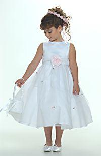 Scattered Rosettes - Flower Girl Dress For Less