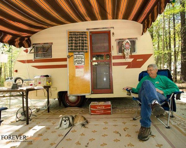 vintage campers at chewacla park in auburn alabama travel trailers rh pinterest com