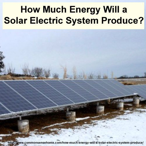 How Much Energy Will A Solar Electric System Produce Solar Electric Solar Electric System Solar