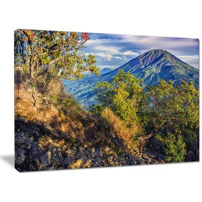 "DesignArt 'Merbabu Volcano in Java' Photographic Print on Wrapped Canvas Size: 30"" H x 40"" W x 1"" D"