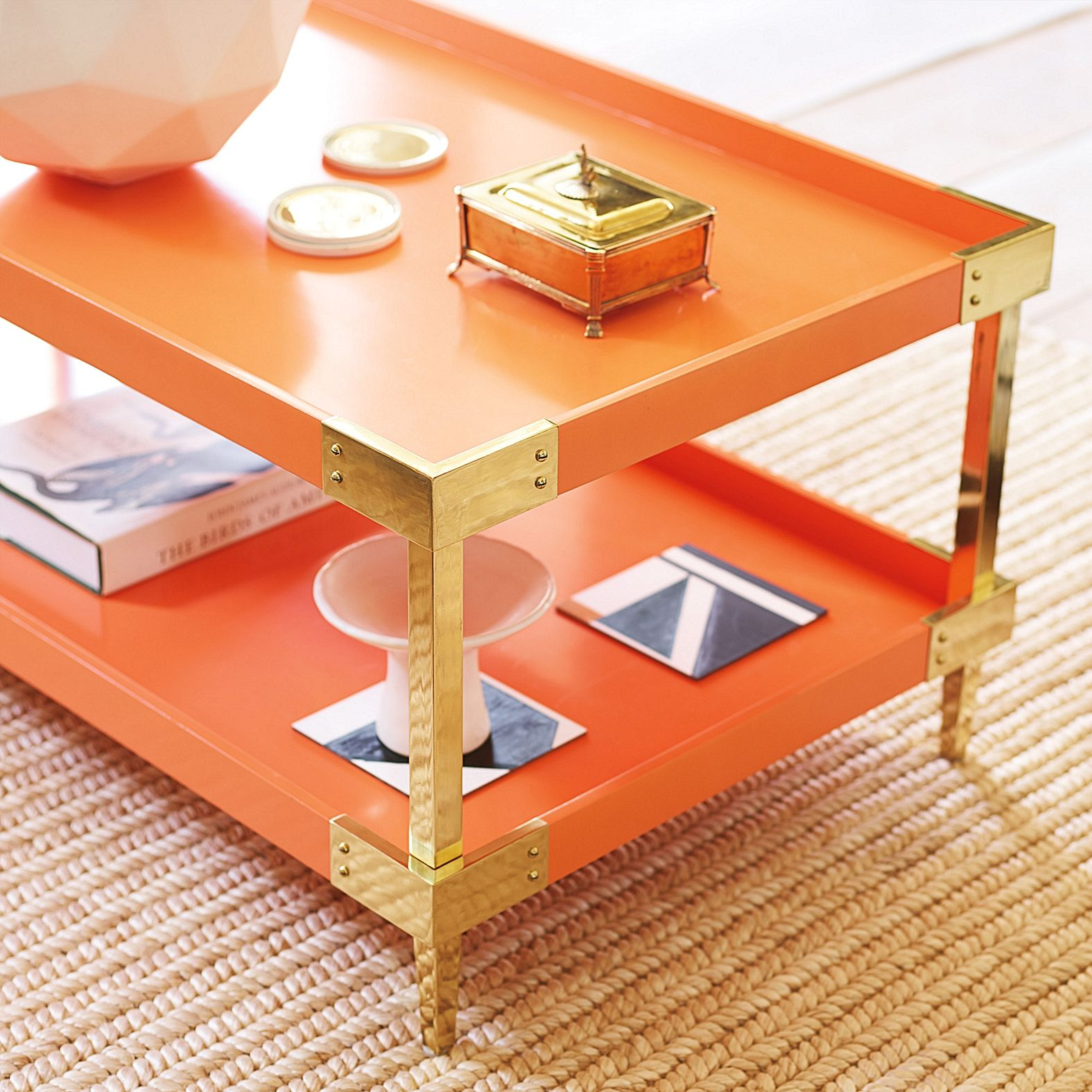 savile tray coffee table persimmon serena lily home table rh pinterest com