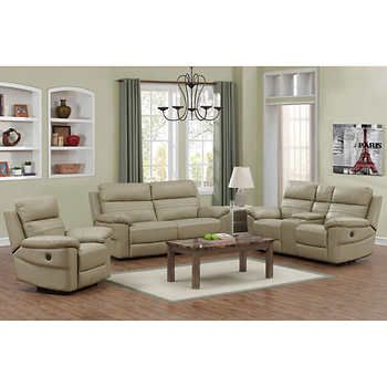 rockhill 3 piece top grain leather power reclining living room set rh pinterest com