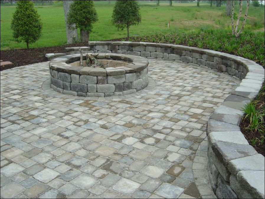 Beautiful Tumble Brick Paver For Patch Installation : Classic Tumble Brick  Pavers Country Manor On The Green Area