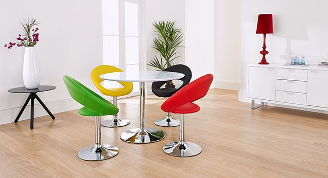 bold and modern and comfy new york table and chairs colour pop rh pinterest co uk