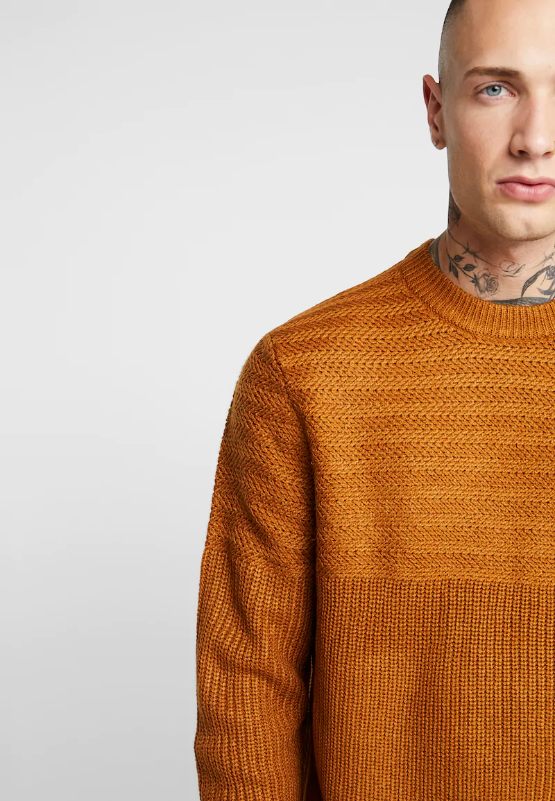 recluta Globo riparo  Topman RACK YOKE - Jumper - brown - Zalando.co.uk | Knitwear men, Sweater  fashion, Men sweater