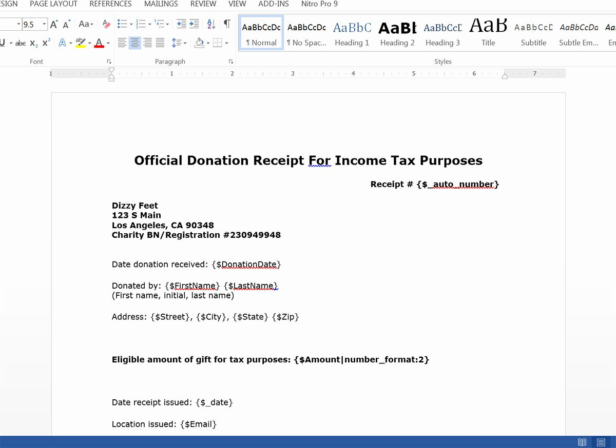 New Create Donation Tax Receipts From Salesforce Receipt Template Printable Baby Shower Invitations Invoice Template