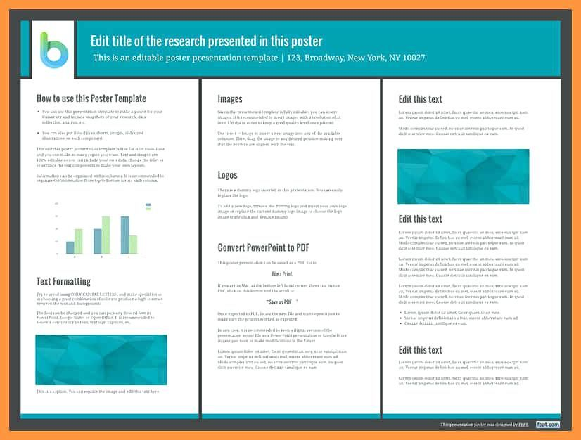 Poster Template Free Conference Presentation A3 Indesign 6 7