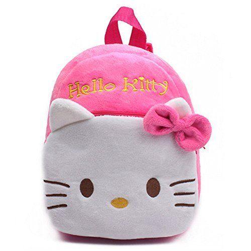 Baby Girls School Bag Hello Kitty Cartoon Design Pink Backpack Kids Schoolbag