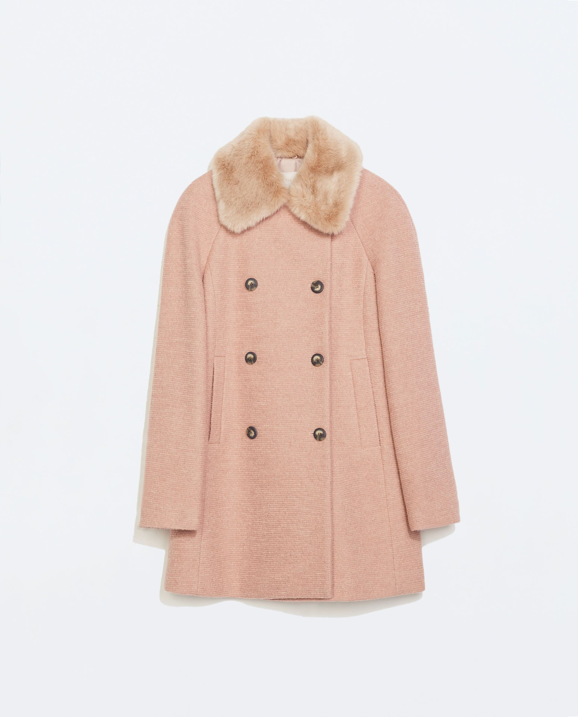 Image 6 of COAT WITH DETACHABLE FUR COLLAR from Zara