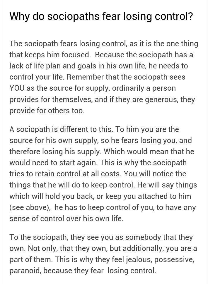 Part  Two Things A Sociopath Fears Wonder How He Felt When He
