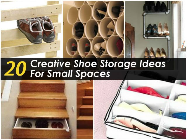20 creative shoe storage ideas for small spaces pcos for Creative small space storage solutions