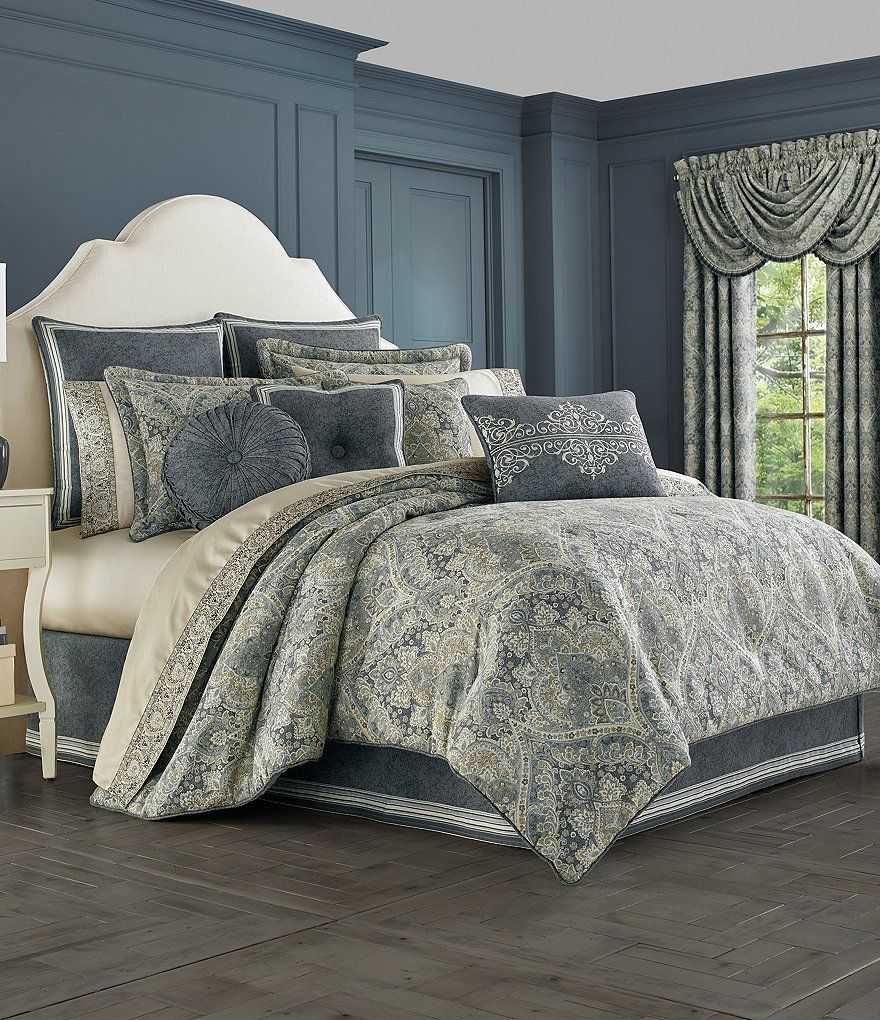 J Queen New York Miranda Damask Comforter