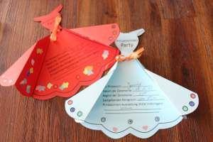 einladungskarte prinzessinnenparty. #basteln #kindergeburtstag, Einladung