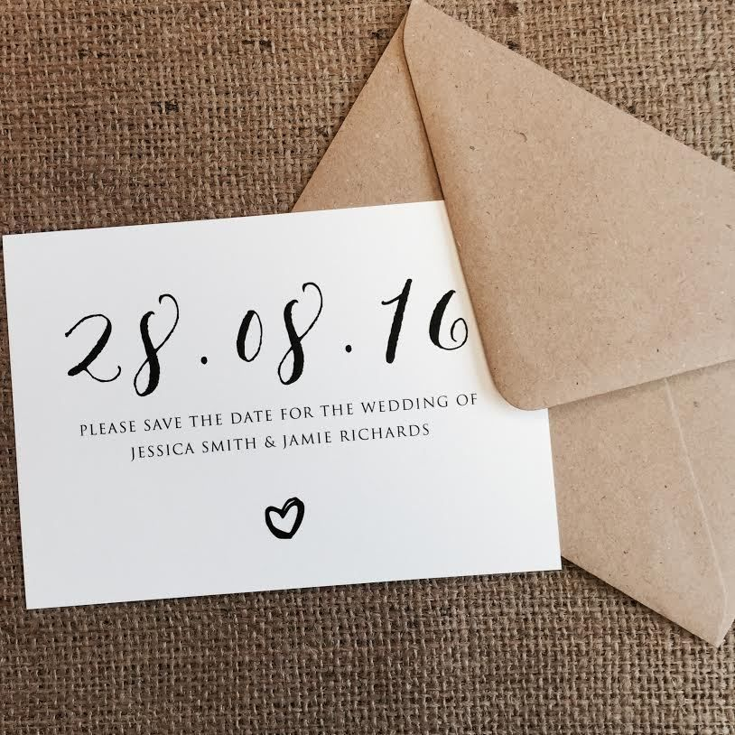 Personalised Wedding Save the Date Cards Party