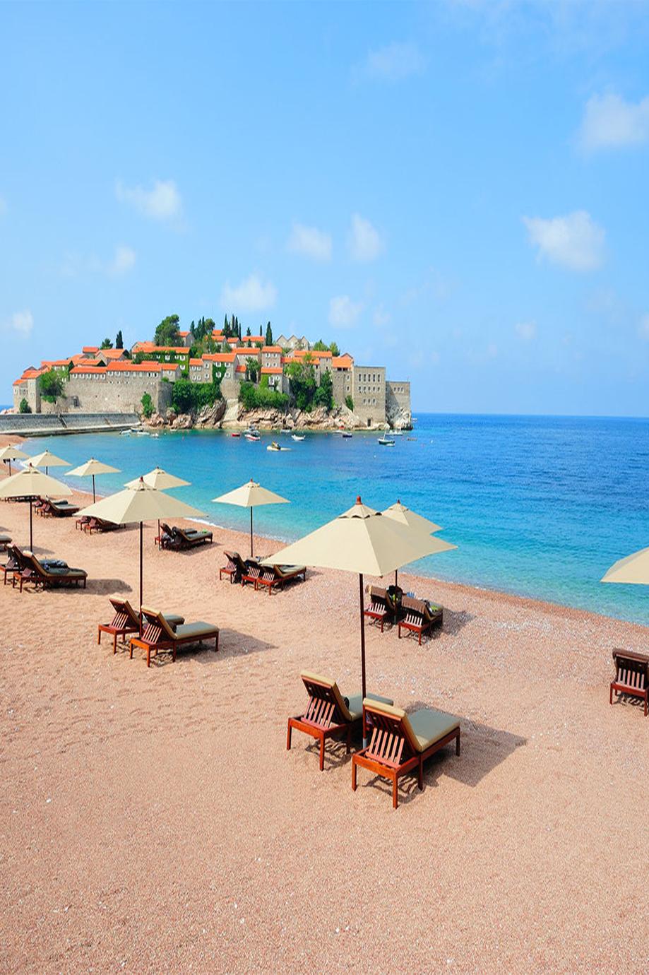 sveti stefan beach montenegro best beach to visit most beautiful rh pinterest com