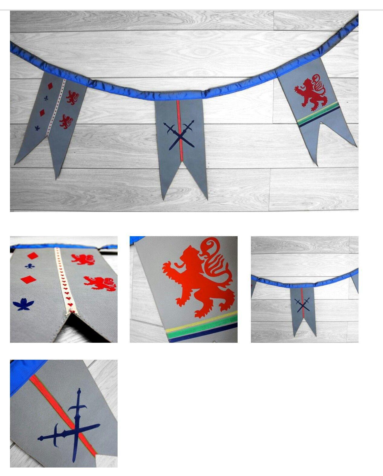 Banderin Medieval Estandarte Banderines Decoracion Banderin Estandartes
