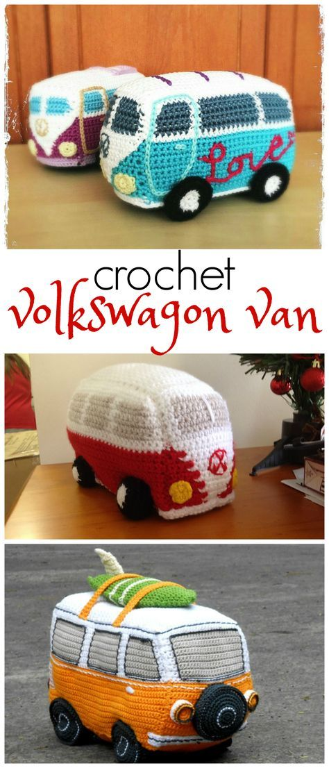 Oh i love these volkswagon van/bus patterns! There are free ones too ...