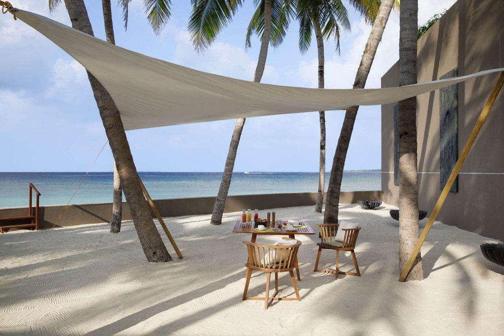 Comment abriter sa terrasse du soleil...   Maldives