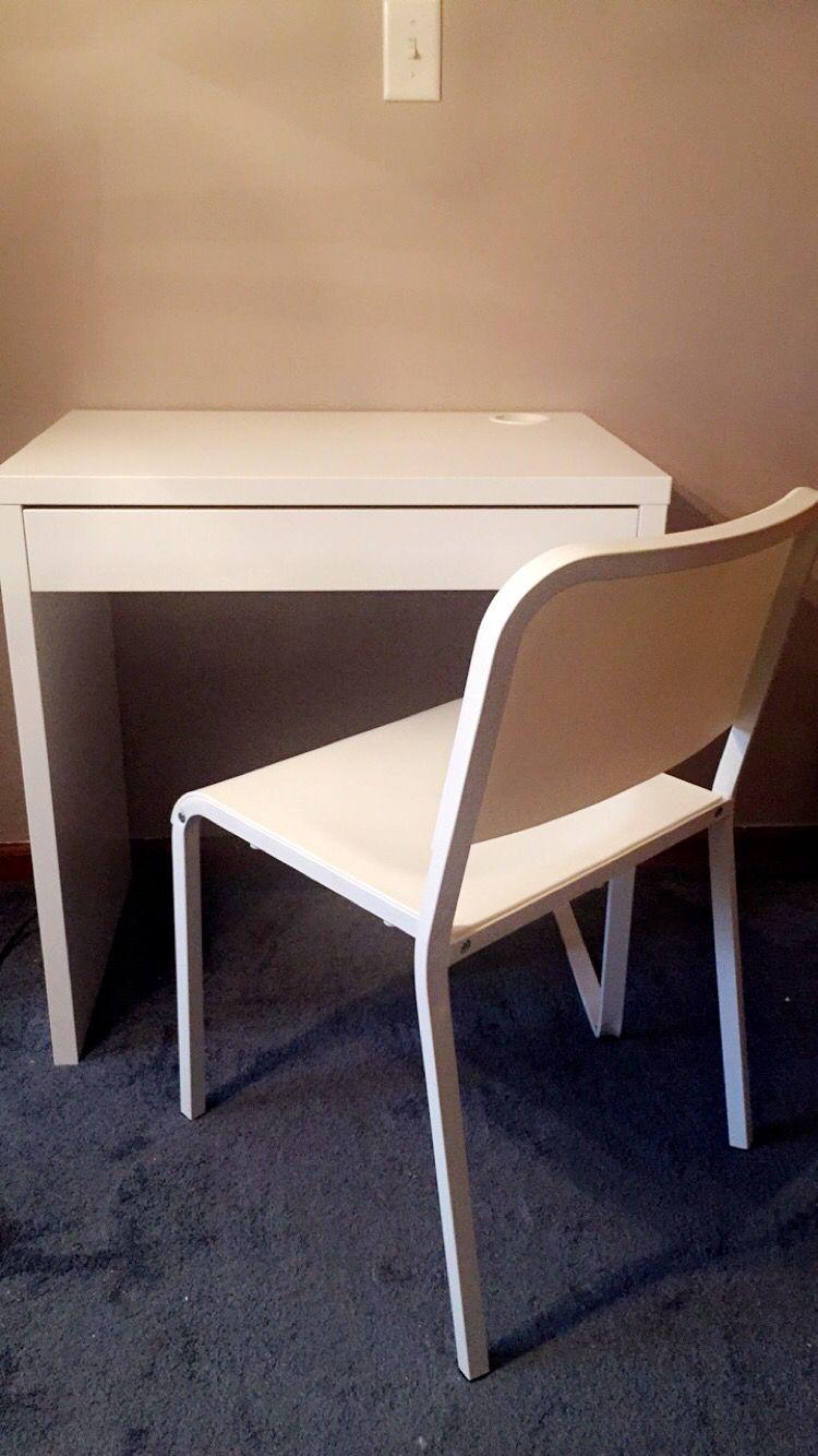Ikea study area desk melltorp in white 40242993 chair