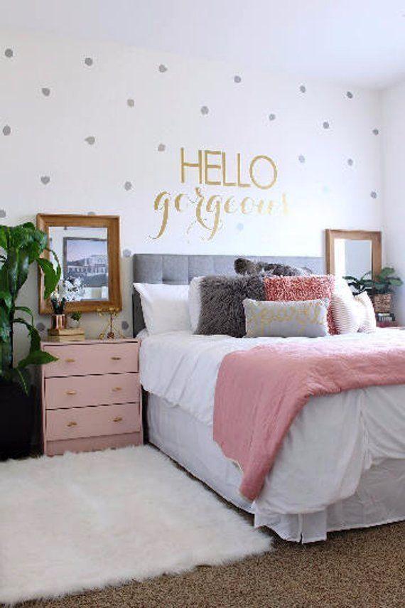 Hello Gorgeous – Hello Beautiful – Hello Handsome – Hello Sunshine Vinyl Wall Decal Wall Art Wall Sign