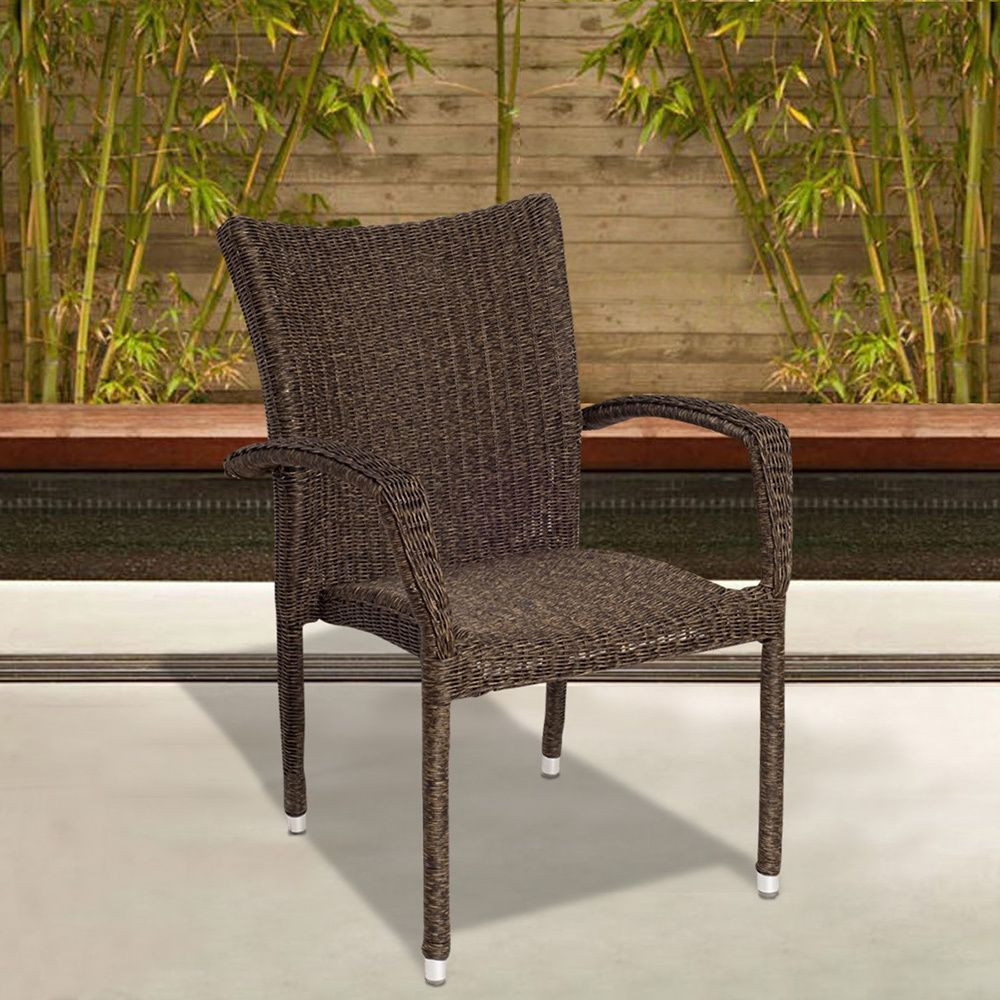 atlantic catania wicker stacking armchair set of 4 29 l x 23 w x rh pinterest at