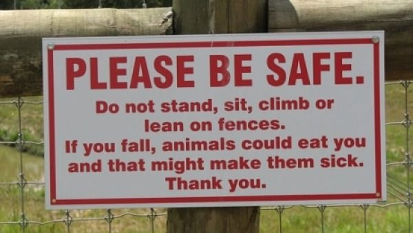 Check out Don't Upset the Animals from 10 Hilarious Street Signs
